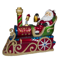 SANTA IN TRAIN. LED LIGHTS & MUSICAL