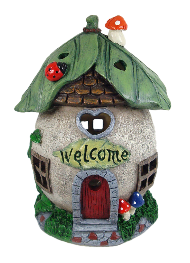 SOLAR WELCOME FAIRY HOUSE