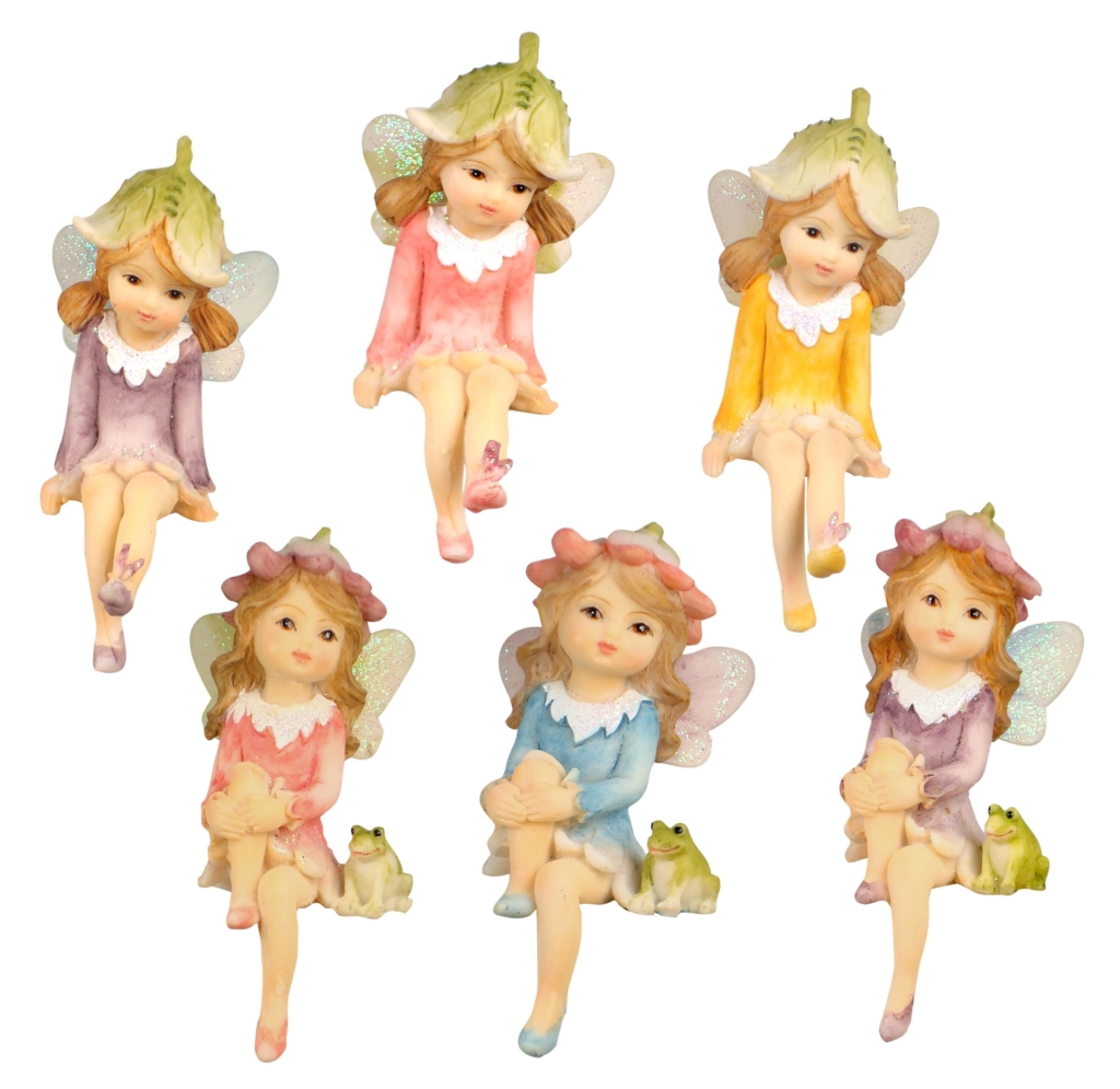 SITTING FAIRY'S - 6 DESIGNS