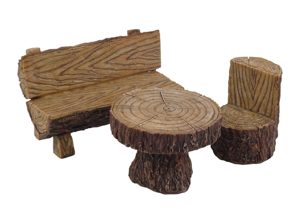 RESIN LOG FURNITURE SET