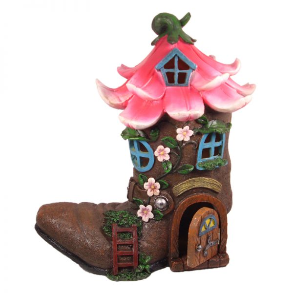 LED FLOWER BOOT HOUSE w/ OPENING DOOR